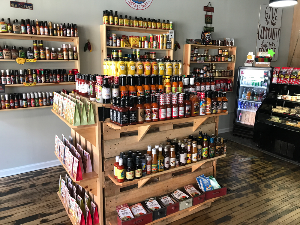 Inside Dilly Dallies Spices and Sauces Store
